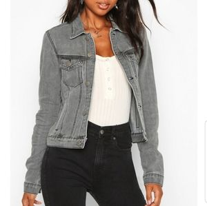 BOOHOO grey tall slim fit jacket